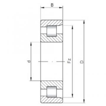 100 mm x 180 mm x 46 mm  ISO NF2220 cylindrical roller bearings