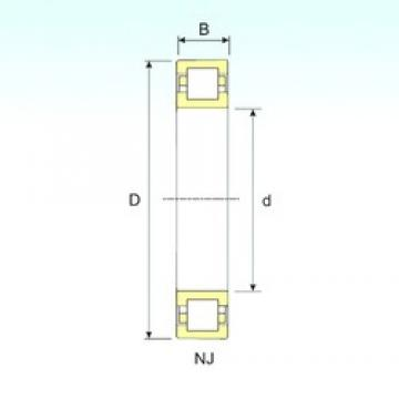 100 mm x 180 mm x 46 mm  ISB NUP 2220 cylindrical roller bearings